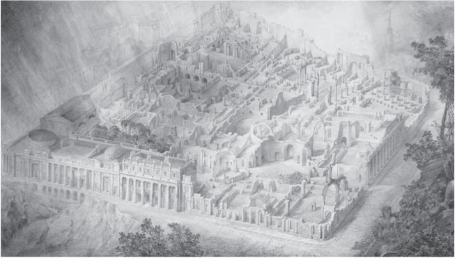 Joseph Gandy, An Imagined View of the Bank of England in Ruins, 1830. Courtesy of the Trustees of Sir John Soane's Museum