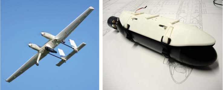 University of Southampton SPOTTER UAV with under-slung maritime flight releasable AUV