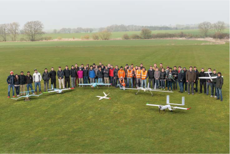 The University of Southampton UAV team with eight of our aircraft, March 2015. See also https://www.youtube.com/c/SotonUAV and https://www.sotonuav.uk/
