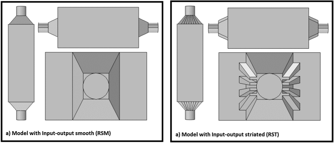 Models of reactor filter-press used in this research