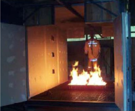 Dynamic flame manikin of Alden Research Laboratories