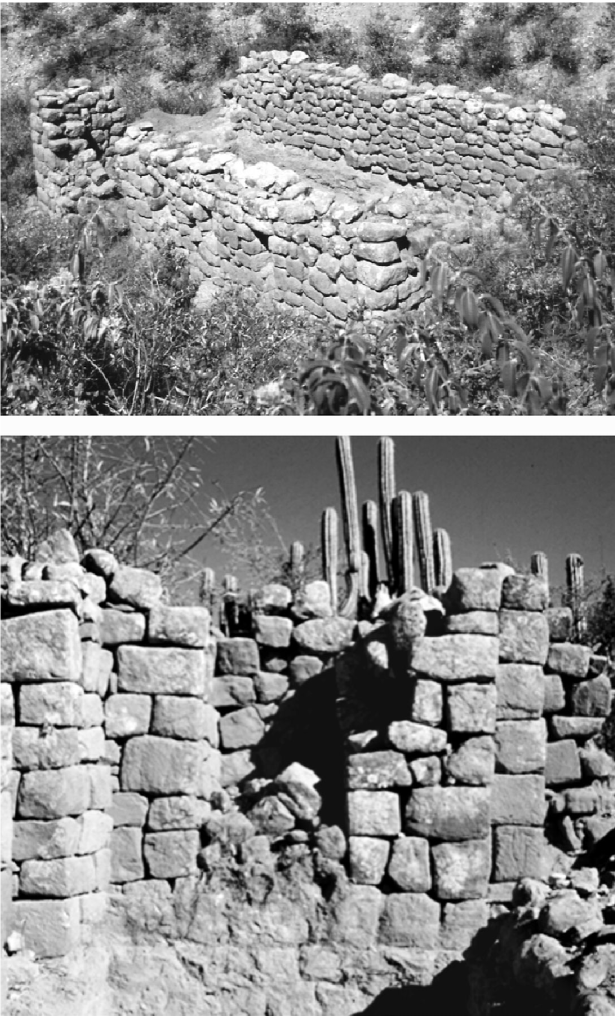 Architectural details of the Oroncota Inka complex on the Pucara Plateau