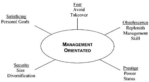 Subjective Managerial Motives for Acquisition or Takeover