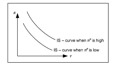 The IS curve and expected inflation.