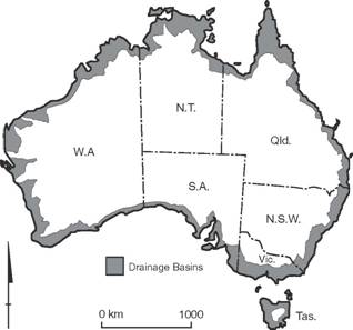 Definition of the Australian Coast based on catchment boundaries