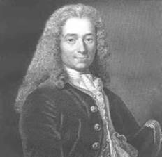 A witty playwright, poet, and essayist, Voltaire was a widely read French popularizer of Isaac Newton and John Locke (iStock).
