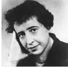 German-American social and political philosopher Hannah Arendt was an ardent critic of all forms of totalitarianism (AP).