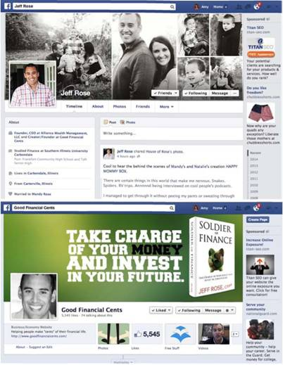 Facebook Profile and Page