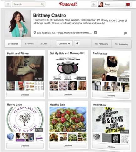 Brittney Castro, owner of Financially Wise Women on Pinterest
