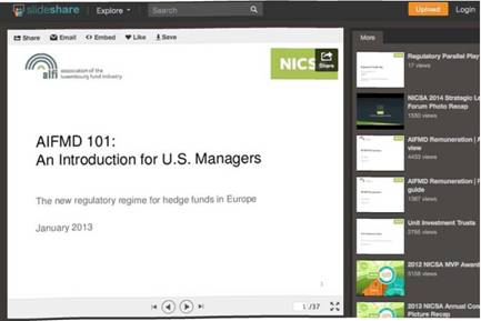 NICSA's SlideShare Post Gamers 12,000 Views